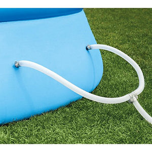 "oldzon 18' x 48"" Inflatable Easy Set Above Ground Swimming Pool Ladder & Pump With Ebook"