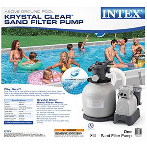 Intex Krystal Clear Sand Filter Pump for Above Ground Pools, 16-inch, 110-120V with GFCI