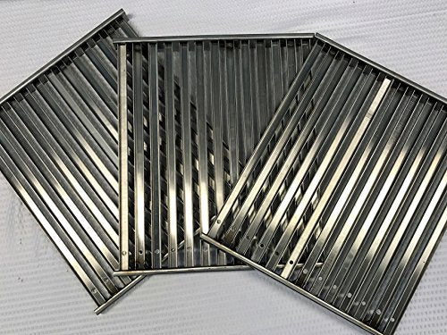 "TEC Infrared Gas Grill Factory Sterling III Cooking Grate Set (3) Grates 12.75"" Wide X 14.75"""
