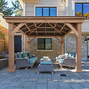 12' x 12' Cedar Gazebo with Aluminum Roof (Assembly Required)