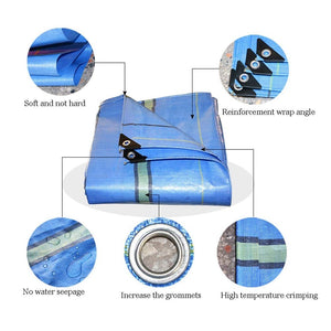 Tarps AGYH PE Waterproof Tarpaulin, Trailer Cover, Soft Tear-Resistant Roof Rain Cover, Greenhouse Farm Ranch Dust Cover 230g/m² (Size : 4.8X11.8m)
