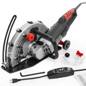 "XtremepowerUS 2600W Electric 14"" Disc Cutter Circular Saw Power Angle Cutter Wet/Dry Circular Blade w/Guide Roller"