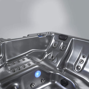 Essential Hot Tubs 50-Jet Solara Hot Tub, Seats 5-6, Black Winter Solstice