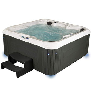 Essential Hot Tubs 92-Jet Atlas Hot Tub, Seats 5-6, Gray