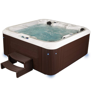 Essential Hot Tubs 92-Jet Atlas Hot Tub, Seats 5-6, Espresso