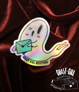 Booverly- Ghost Holographic sticker