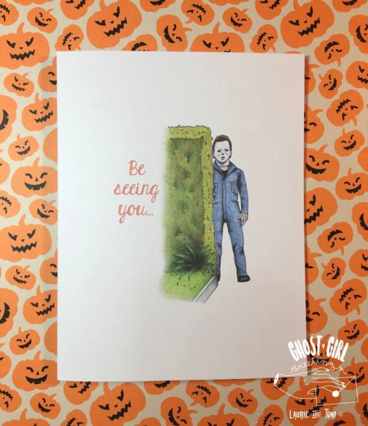Greeting card: Be Seeing you