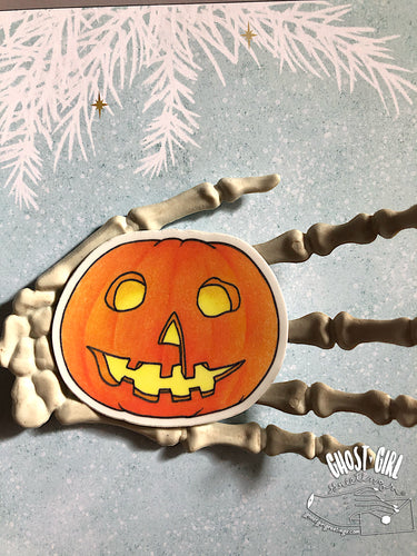 Vinyl Sticker: Halloween Pumpkin