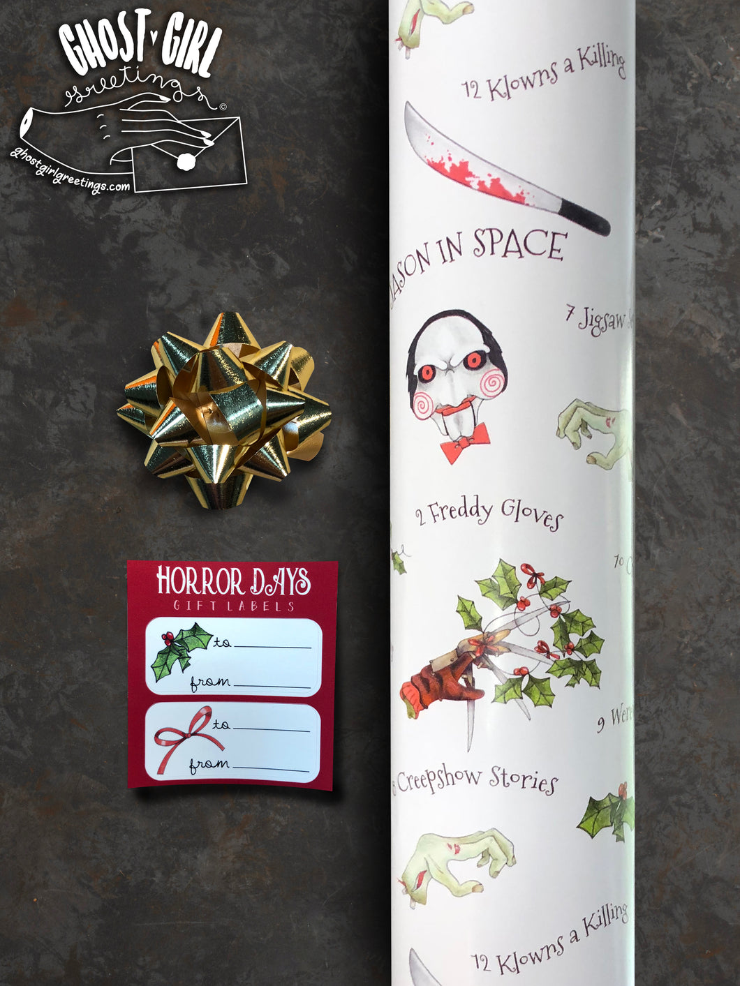 Gift Wrap Set- Horror Days of Christmas