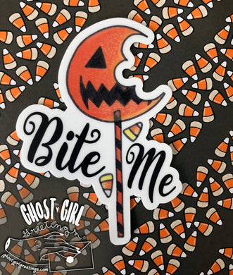 Vinyl Sticker: Bite Me