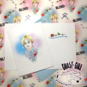 Ghost Girls Exclusive! Officially Licensed Greeting Card: BLIND
