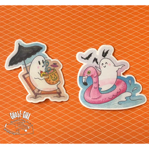 Summerween- Ghost Sticker Set