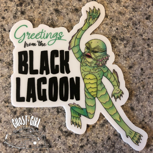Vinyl Sticker: Greetings From the Black Lagoon