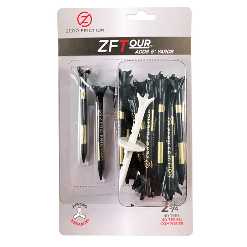 "ZF TOUR 3-PRONG 2-3/4"" TEES - 40 PACK"