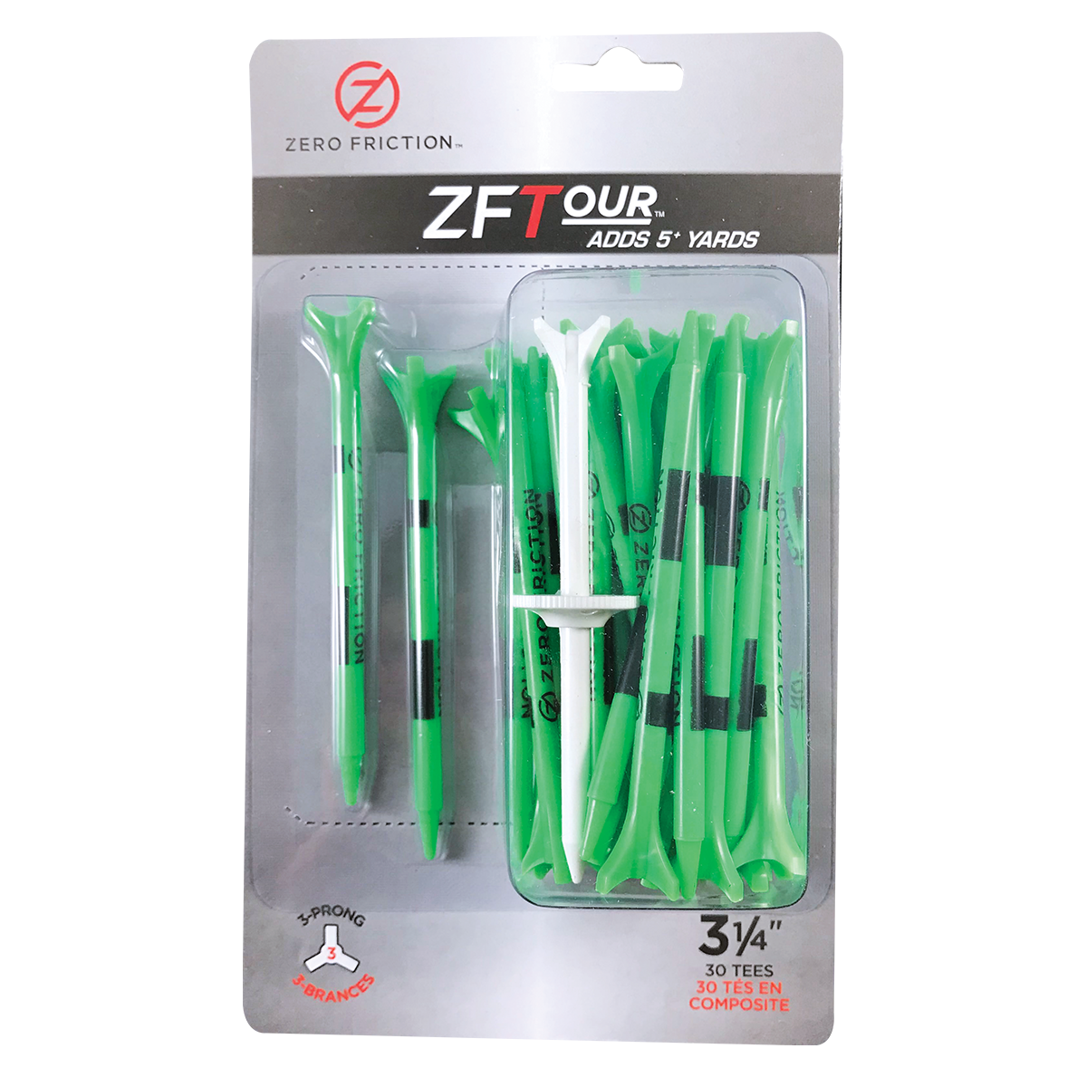 "ZF TOUR 3-PRONG 3-1/4"" TEES - 30 PACK"
