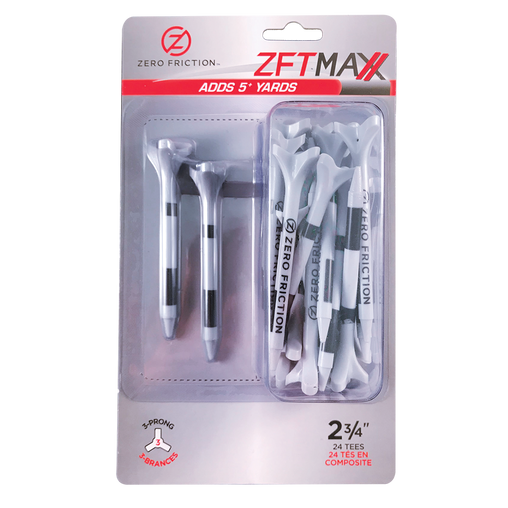 "ZF MAXX 3-PRONG 2-3/4"" TEES - 24 PACK"