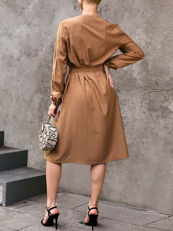 V Neck Long Sleeve Holiday Dresses