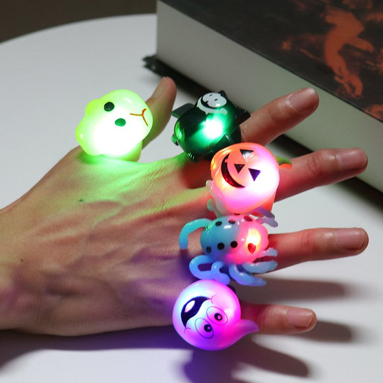 Halloween Gifts Party Finger Light Shining Rings