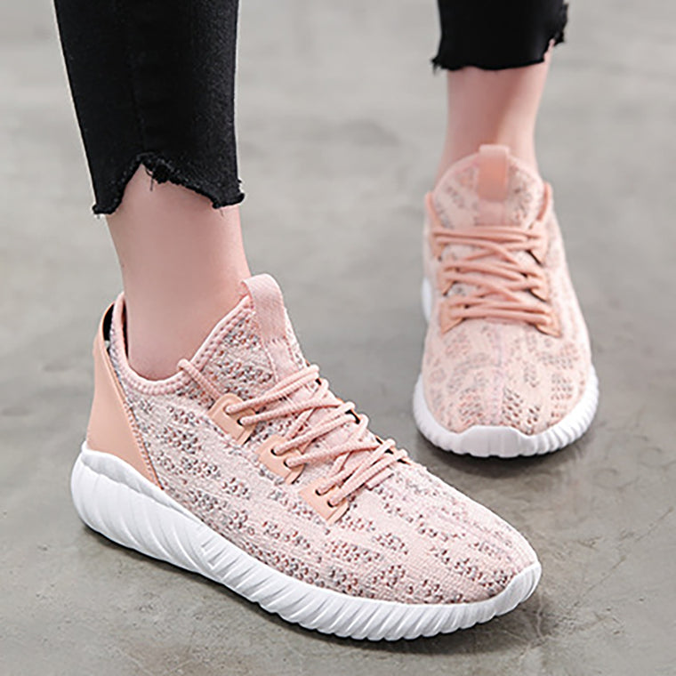 Women Mesh Fabric Sneakers Casual Comfort Slip On Athletic Shoes