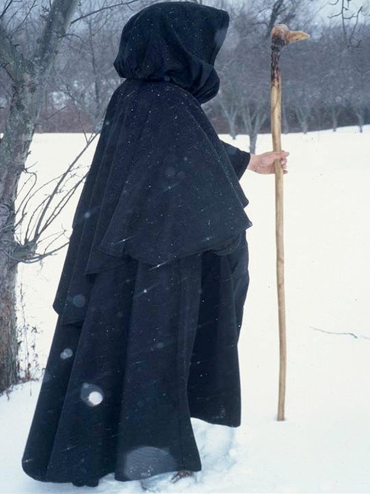Middle Ages Solid Vintage Cloak Outerwear