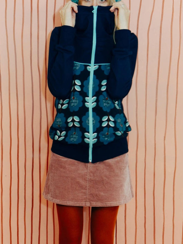 Printed Casual Shift Hoodie Outerwear