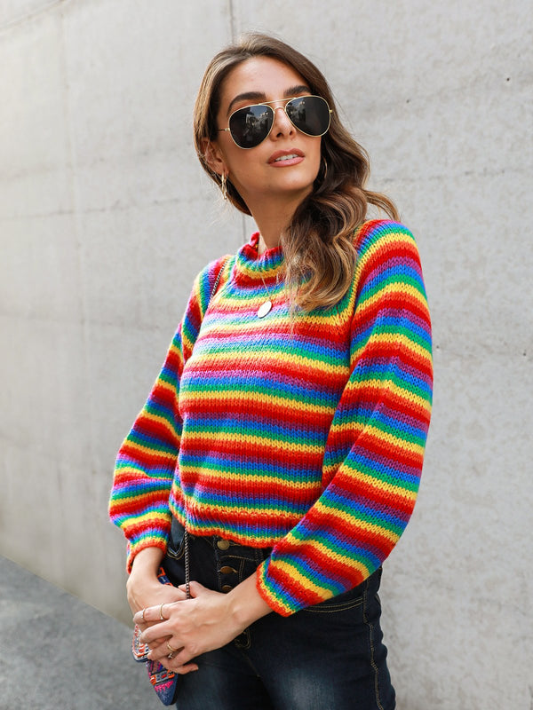 Crew Neck Casual Shift Sweater