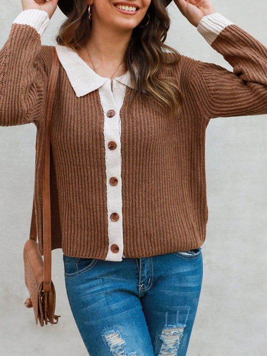 Long Sleeve Paneled Sweet Shirts & Tops