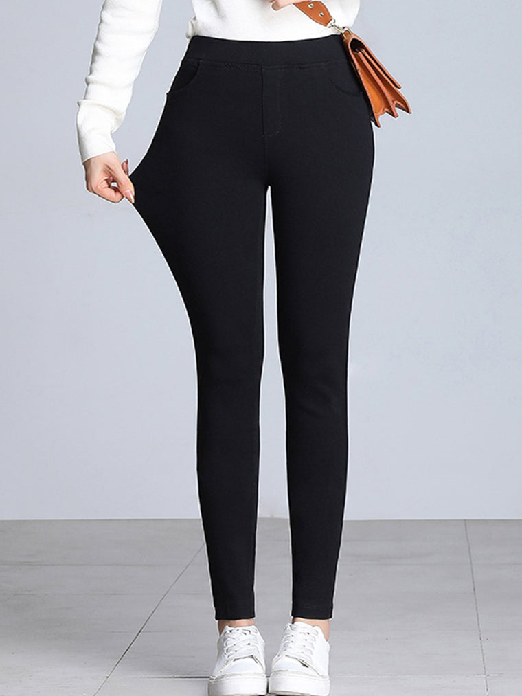 Plus size high waist stretch leggings
