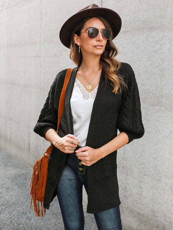 Shawl Collar Long Sleeve Holiday Outerwear