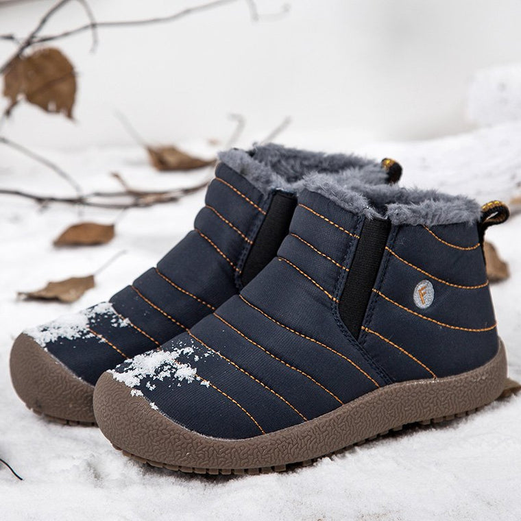 Plus Size Unisex Waterproof Fur Lined Casual Snow Boots