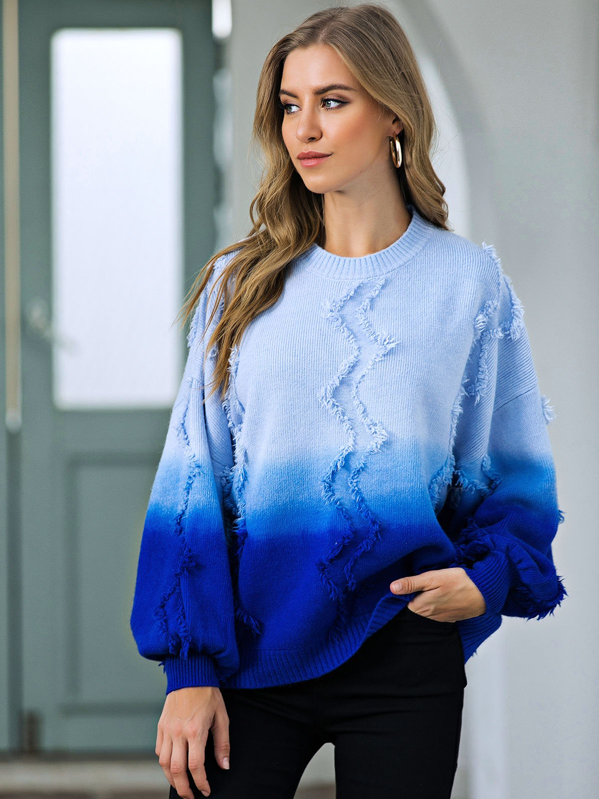 Casual Tie-Dyed Sweater
