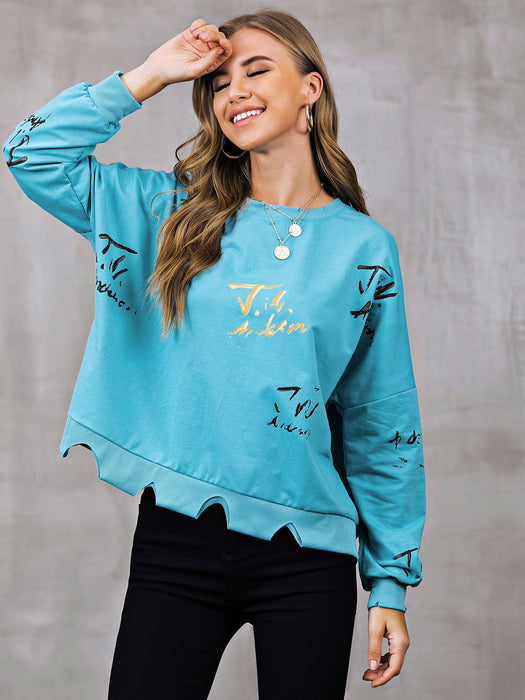 Abstract Shift Long Sleeve Sweatshirt