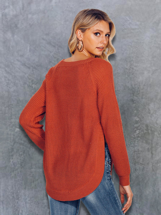 Shift Long Sleeve Solid Crew Neck Sweater