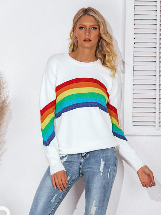 Crew Neck Graphic Casual Long Sleeve Sweater