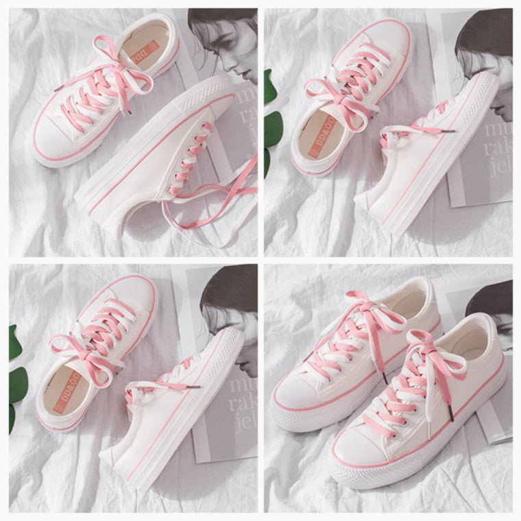 Women Lace-up Sneakers Flat Heel Casual Shoes