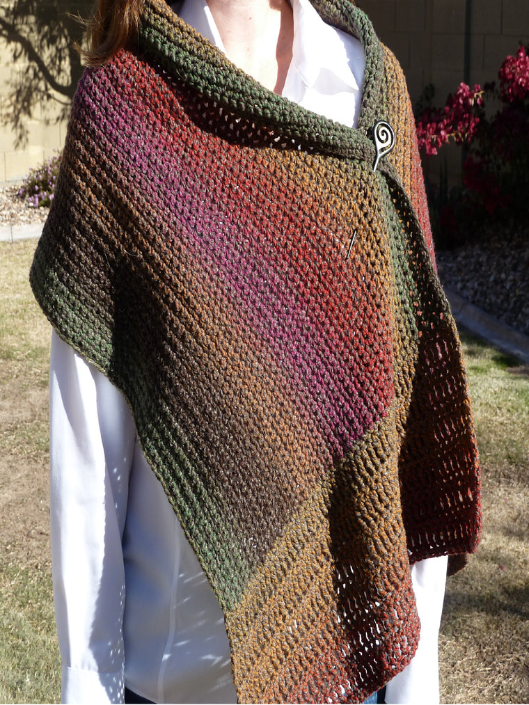 Brown Knitted Vintage Scarves & Shawls