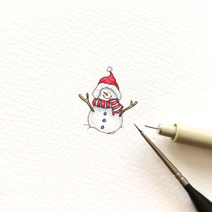 Cheerful snowman