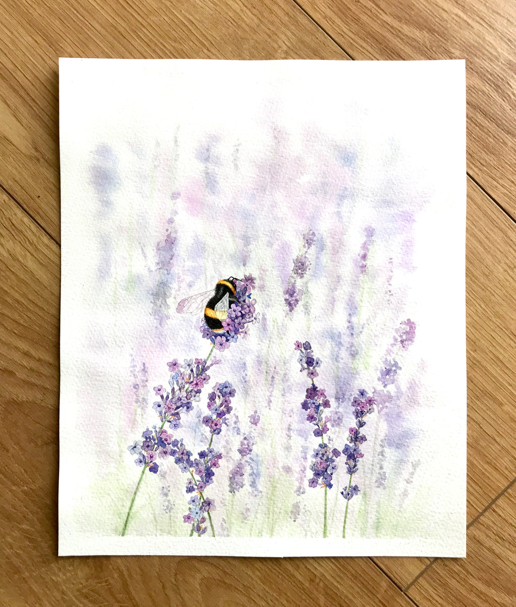 Lavender and bumblebee - SOLD
