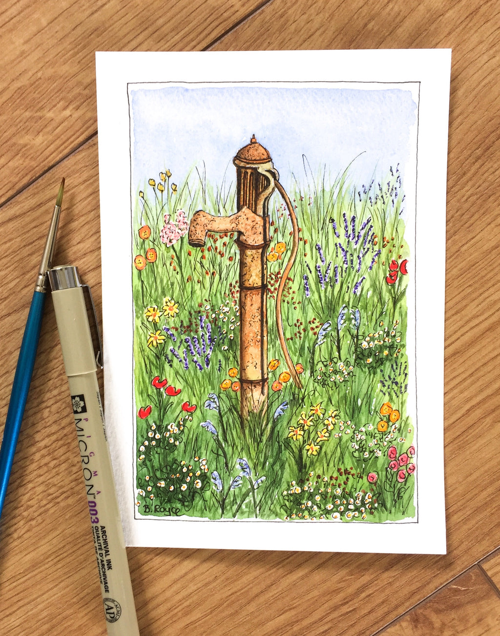 Wildflowers and standpipe
