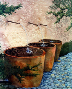 Terracotta fountains