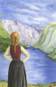 On the edge of the Fjord - book cover for The Good and the Beautiful - SOLD