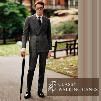 Classy Walking Cane Umbrellas from England