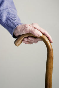elderly walking stick