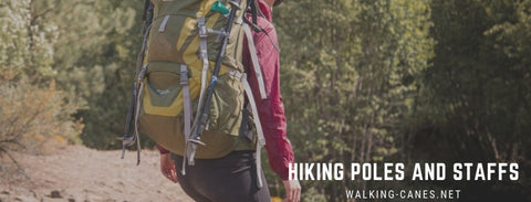 hiking poles and staffs