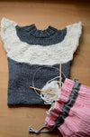 Make over a simple easy knit pullover with fun textures