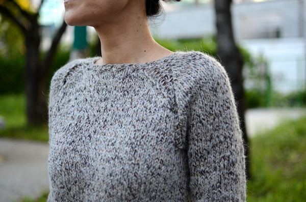 easy, simple, chunky, quick, fast knit pullover sweater for beginners