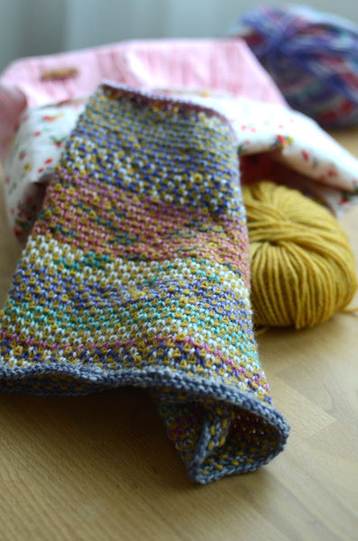 free, easy, simple cowl knitting pattern for knit beginners