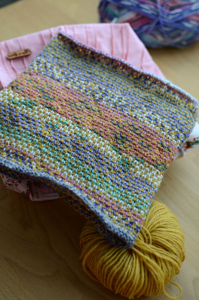 easy, simple, unusual, textured knitting pattern for beginners
