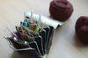 The most innovative crochet hook organizer. All sizes of crochet hooks, darn needles, tailor rulers, scissors, and stitch markers can stay all together in this fabulous crochet hook storage.