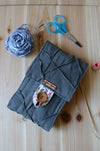 A perfect knitting needle case for many circular needle sets. Natural Linen in dark olive green